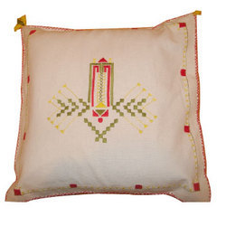 Organdy Embroidered Cushion Covers