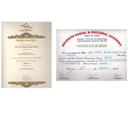 Certificates and Laurels