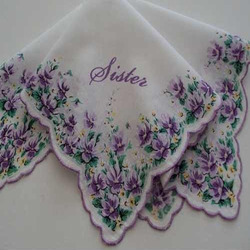 Sisters Personalized Handkerchief