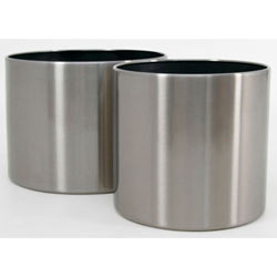 Stainless Steel Cylindrical Planter
