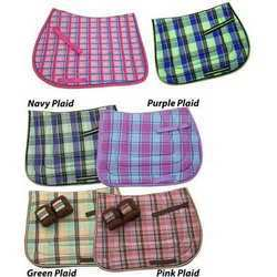 Bright Plaid Saddle Pads