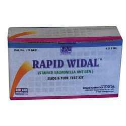 Rapid Widal Slide Test Test Kit IS6451_IS6460
