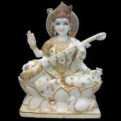 Carved Goddess Saraswati Statue