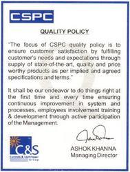 Quality Policy / Processes