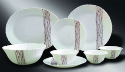 Rivera Brown Dinner Set