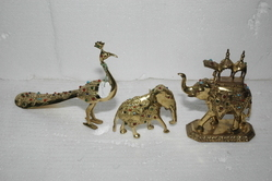 Brass Stone Animals