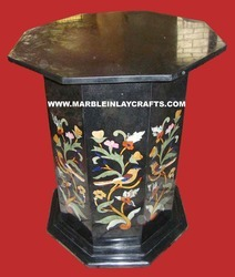 Stone Inlay Table Base