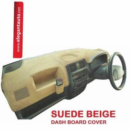 Beige Suede Dash Board Cover