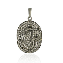 Pave Diamond Om Pendant Jewelry