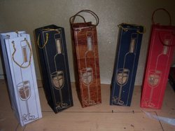 Wine Bottle Handmade Paper Bags with Wine Theme