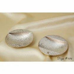 Silver Round Shape Diya