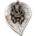 ekdant ganesha white metal wall hanging