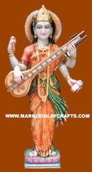 Marble Saraswati Statue Standing