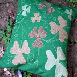 Clover Leaf Applique Cushion Covers