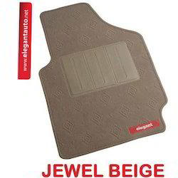 Jewel Beige Carpet Foot Mats