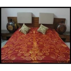 Bed Covers Golden Red
