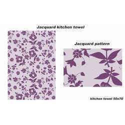 flower jacquard kitchen towel