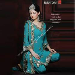 Zari and Mirror Embroidery Suit