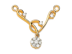 Avsar Real Gold and Diamond Pressure Set Mangalsutra