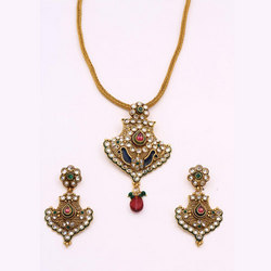 Antique Pendant Sets With Multiple Colored Stone