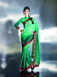 ethnic teal blue embroidered saree