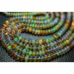 Ethiopian Opal Smooth Rondelles