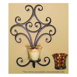 Iron Wall Candle Holder