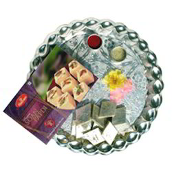 Sweets In A Silver Colured Thali