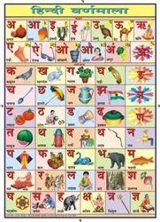 Hindi For Alphabet Chart