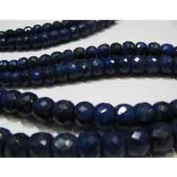 Blue Sapphire Faceted Rondeles