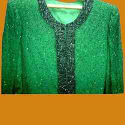 Green Beaded Jacket