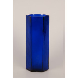 Blue Glass Planter