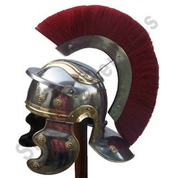 Mini Roman Helmet With Red Crest