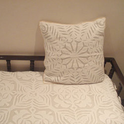 Patterned Applique Cushion Covers