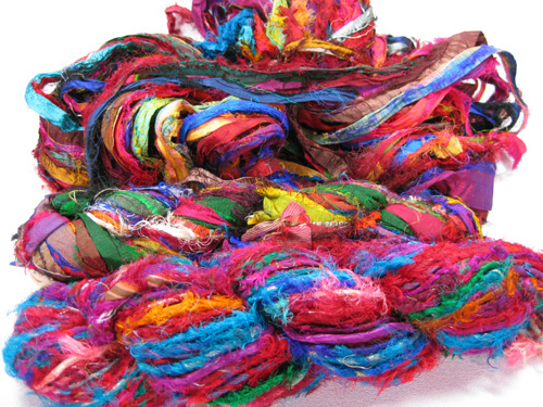 Sari Silk Ribbon Yarns