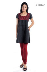 Silk Embroidered Kurtis