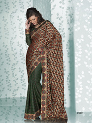 Indian Sarees With Designer  Blouse