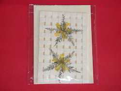 dried flower greeting cards with paper netting