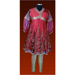 Cotton Silk Churidar With Kurta