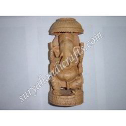 Wooden Chatri Ganesha