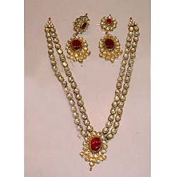 Indian Jewellery, Jewelry, Antique Gold Kundan Jewellery Set with