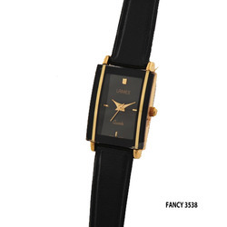 Ladies Fancy Black Frame Watch
