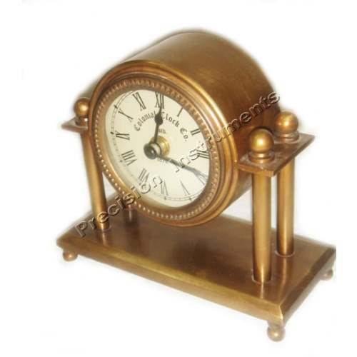 Superbe 3 Inch Brass Table Clock Antique