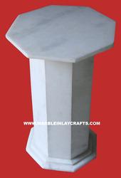 White Stone Table Base