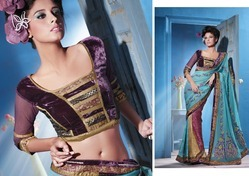 Unstitched Indian Saree