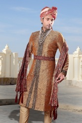 Luxurious Wedding Semi Sherwani