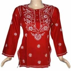 Chicken Embroidery Kurti