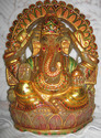 gemstone paintings ganesha carving