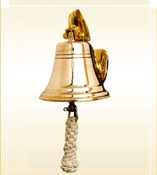 Brass Ship Bell with Plaque