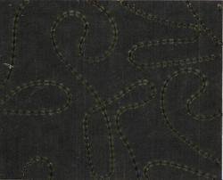 Embroidered Handmade Paper with Black Sequins